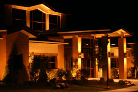 Richland Township Building at Night