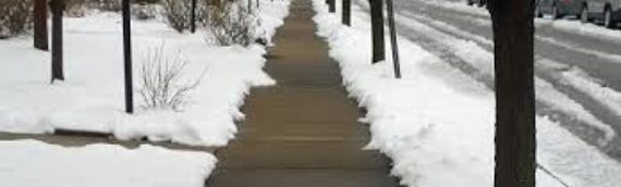 Please Remember:  Keep Sidewalks Clear in Winter