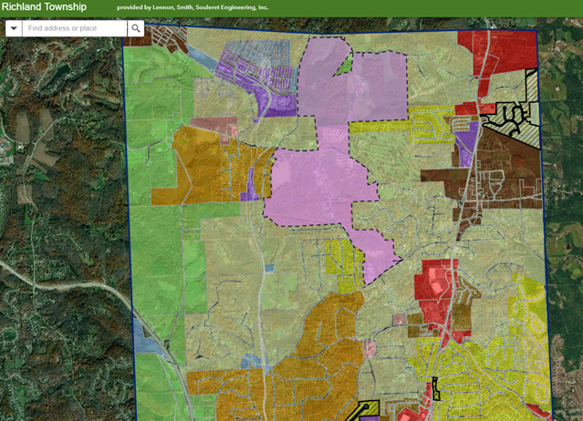 Maps - Richland Township, Allegheny County, PA Allegheny County Map on