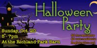Halloween Party - Sunday, October 20
