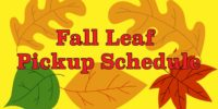 Fall Leaf Pickup - New Schedule