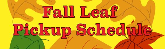 Fall Leaf Pickup – New Schedule