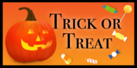 Trick or Treating: Saturday, October 31st, 6pm-8pm