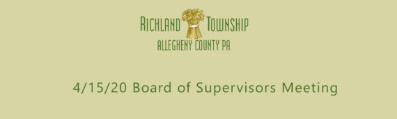 Cloud Recording: 4/15/20 Board of Supervisors Meeting