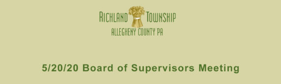 Cloud Recording – 5/20/20 Richland Township Board of Supervisors Meeting